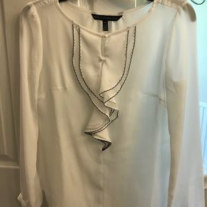 Blouse / white with black details